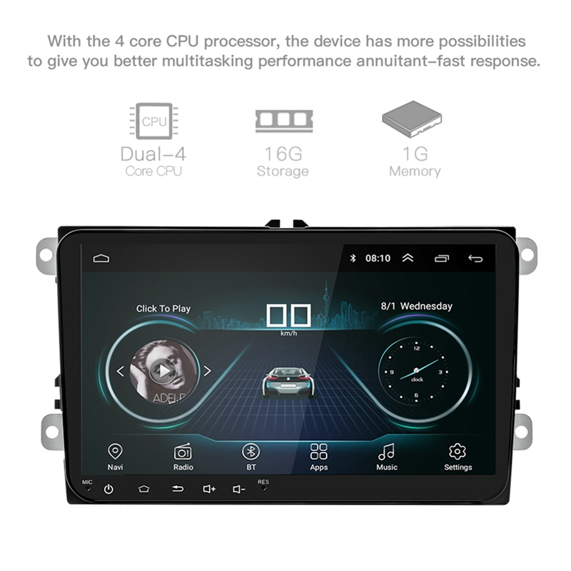 9-Inch-Android-8-0-Double-2Din-Car-Radio-Gps-Auto-Radio-2-Din-Usb-For-Volks-X6X4 thumbnail 4