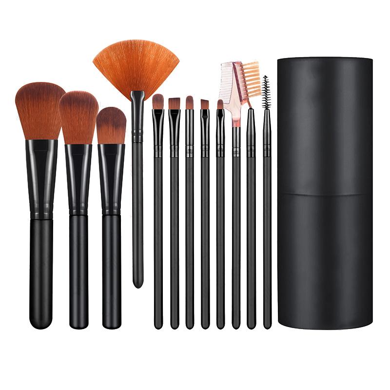 315186164963 12Pcs Makeup Brushes Set Make Up Fan Foundation Powder Eyeshadow ...