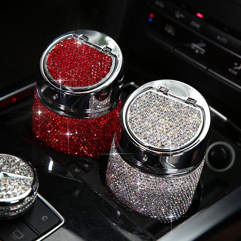 Diamant-Auto-Aschenbecher-Shiny-Auto-Aschenbecher-mit-Abdeckung-fuer-Auto-Gr-H4J8 Indexbild 5