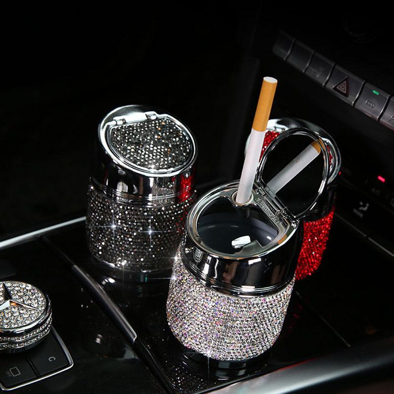 Diamant-Auto-Aschenbecher-Shiny-Auto-Aschenbecher-mit-Abdeckung-fuer-Auto-Gr-H4J8 Indexbild 8