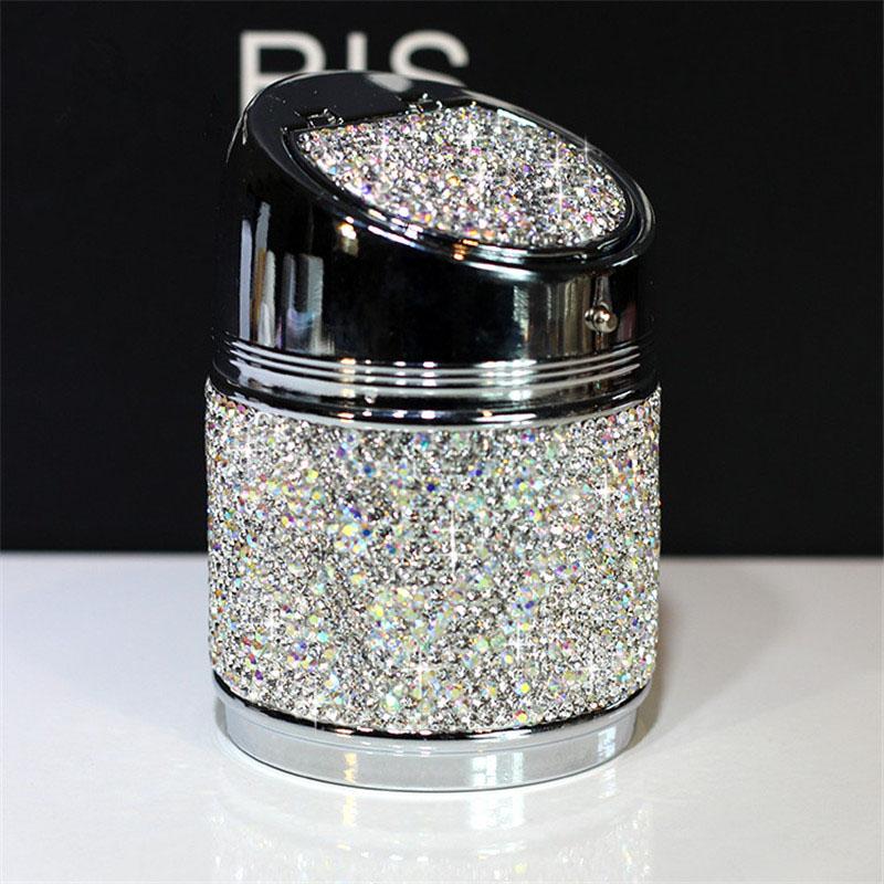 Diamant-Auto-Aschenbecher-Shiny-Auto-Aschenbecher-mit-Abdeckung-fuer-Auto-Gr-H4J8 Indexbild 10