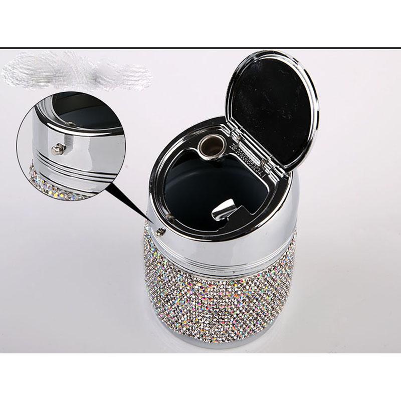Diamant-Auto-Aschenbecher-Shiny-Auto-Aschenbecher-mit-Abdeckung-fuer-Auto-Gr-H4J8 Indexbild 13