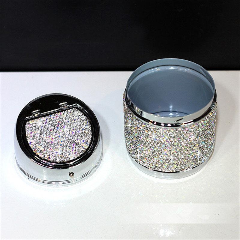 Diamant-Auto-Aschenbecher-Shiny-Auto-Aschenbecher-mit-Abdeckung-fuer-Auto-Gr-H4J8 Indexbild 14
