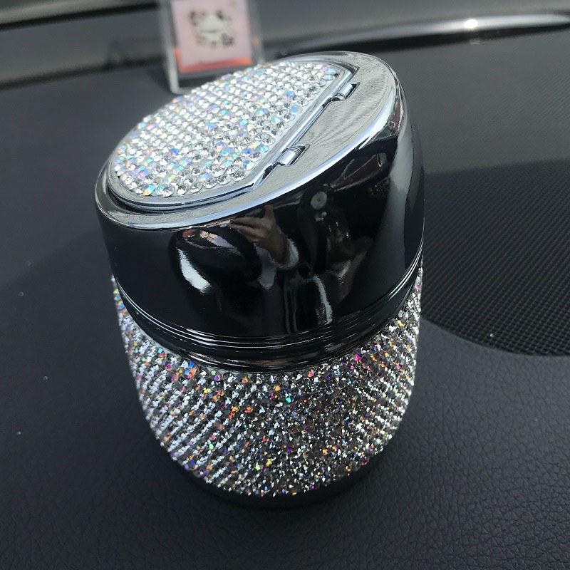 Diamant-Auto-Aschenbecher-Shiny-Auto-Aschenbecher-mit-Abdeckung-fuer-Auto-Gr-H4J8 Indexbild 15