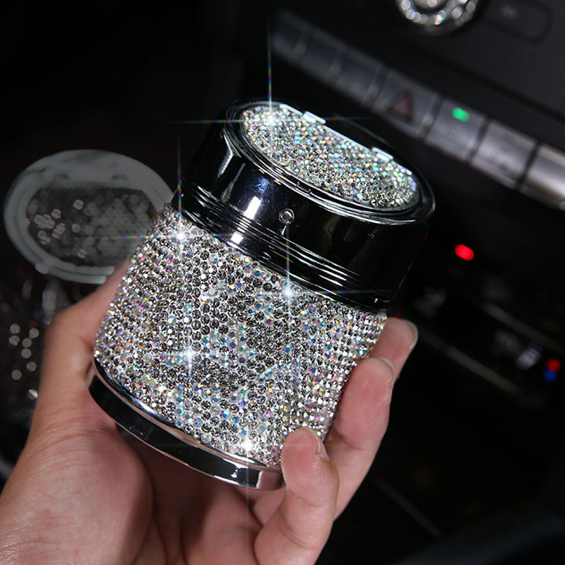 Diamant-Auto-Aschenbecher-Shiny-Auto-Aschenbecher-mit-Abdeckung-fuer-Auto-Gr-H4J8 Indexbild 16