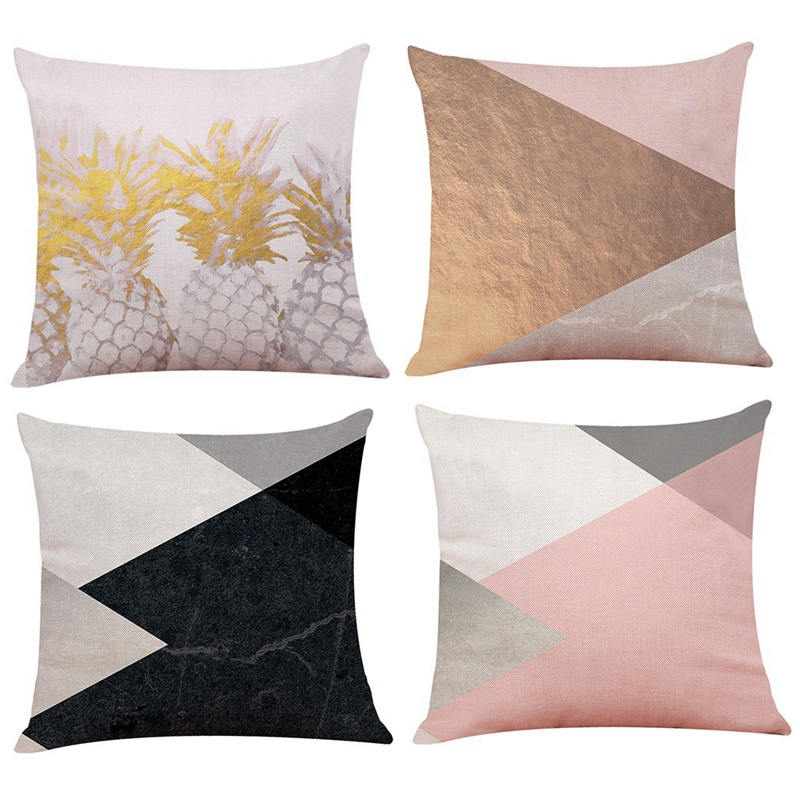 2X-Geometric-Pillow-Cover-Home-Decoration-Pillow-Cover-Linen-Sofa-Cushion-C5X6 thumbnail 19