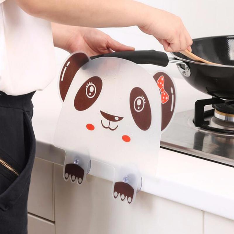 2X-Vivid-Panda-Plastic-Water-Baffle-Kitchen-Sucker-Water-Splash-Guards-Prot8W3 thumbnail 4