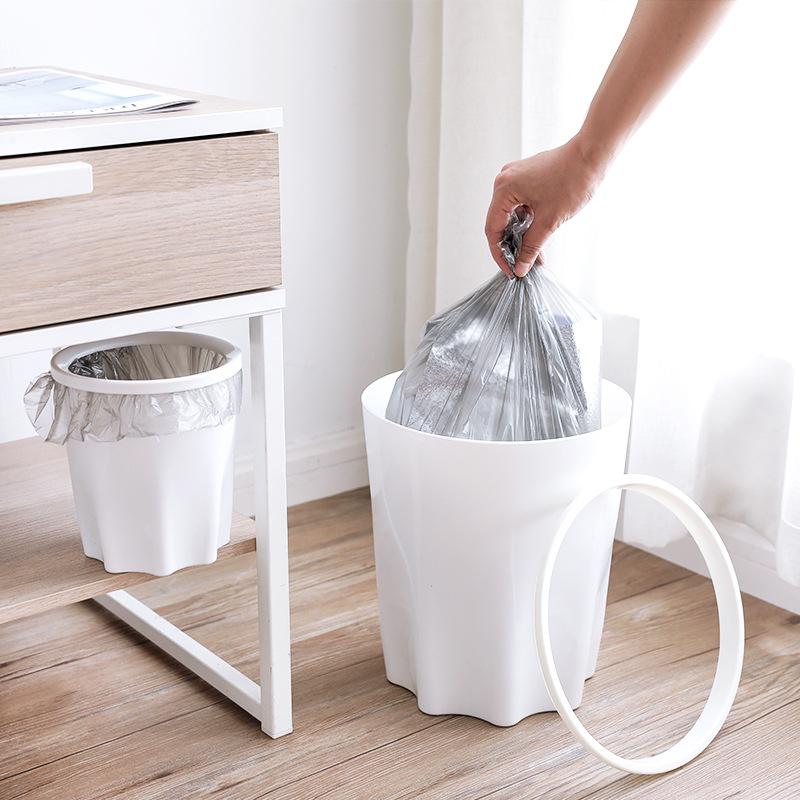 2X-Eco-Friendly-Trash-Bin-Plastic-Lidless-Home-Wastepaper-Baskets-Kitchen-B4L5 thumbnail 3