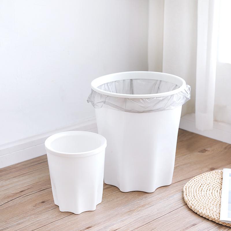 2X-Eco-Friendly-Trash-Bin-Plastic-Lidless-Home-Wastepaper-Baskets-Kitchen-B4L5 thumbnail 4