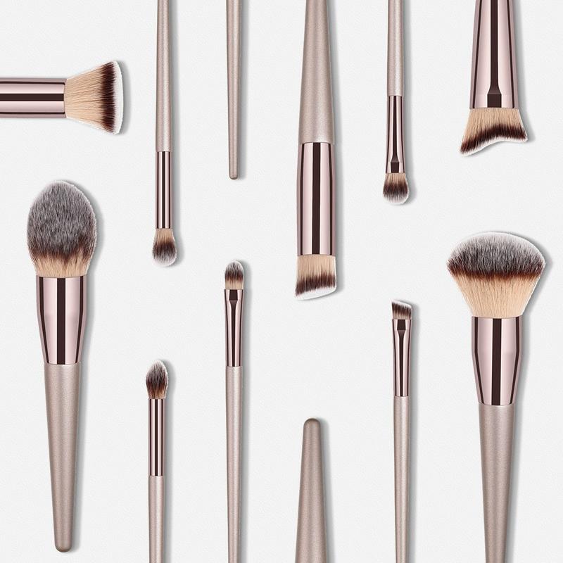 Nouvelles-Pinceaux-De-Mode-Pour-Femmes-Brosses-A-Maquillage-Champagne-Pour-A8P9 miniature 4