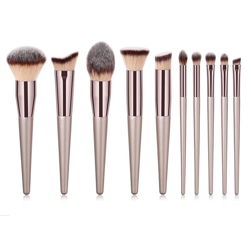Nouvelles-Pinceaux-De-Mode-Pour-Femmes-Brosses-A-Maquillage-Champagne-Pour-A8P9 miniature 7