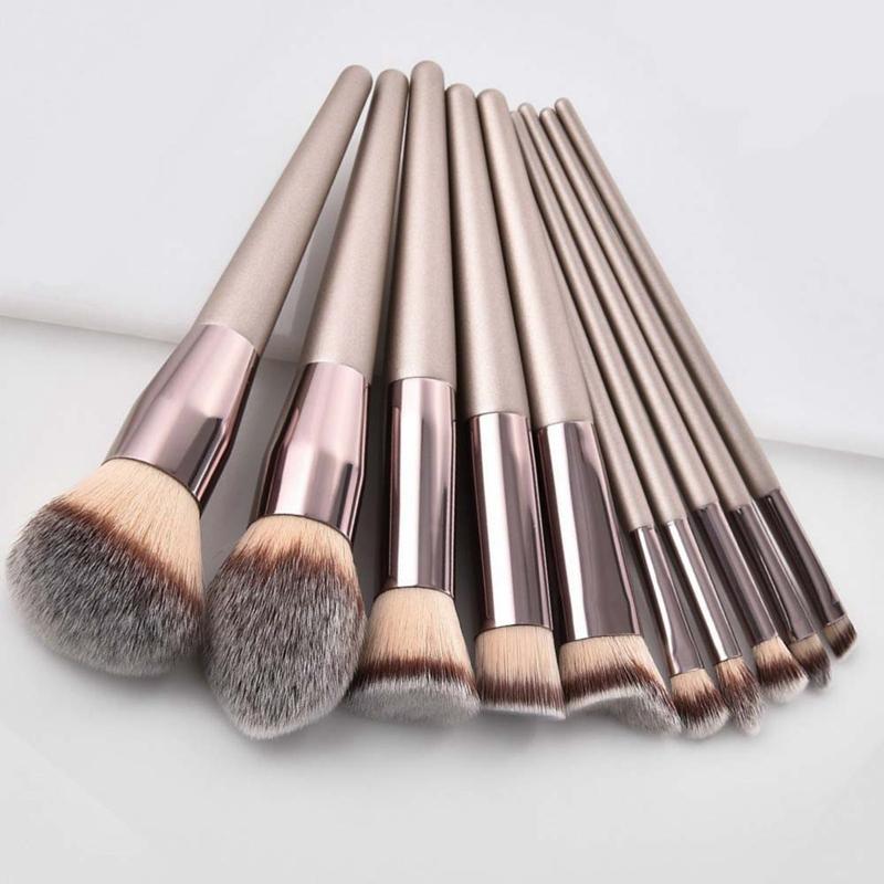 Nueva-Moda-De-Mujer-Cepillos-Champan-Pinceles-De-Maquillaje-Para-Base-Polvo-V5A3 miniatura 9
