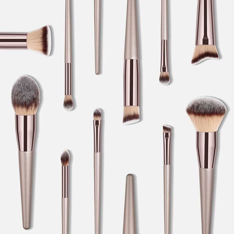 Nouvelles-Pinceaux-De-Mode-Pour-Femmes-Brosses-A-Maquillage-Champagne-Pour-A8P9 miniature 10