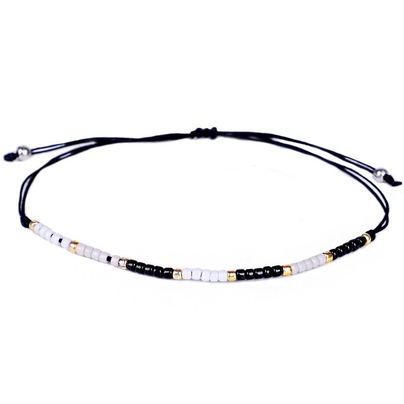 3Pc Cristal De Bohême Perles Amitié Tressé Corde Bracelets Pour Femmes Char Z3H4 5