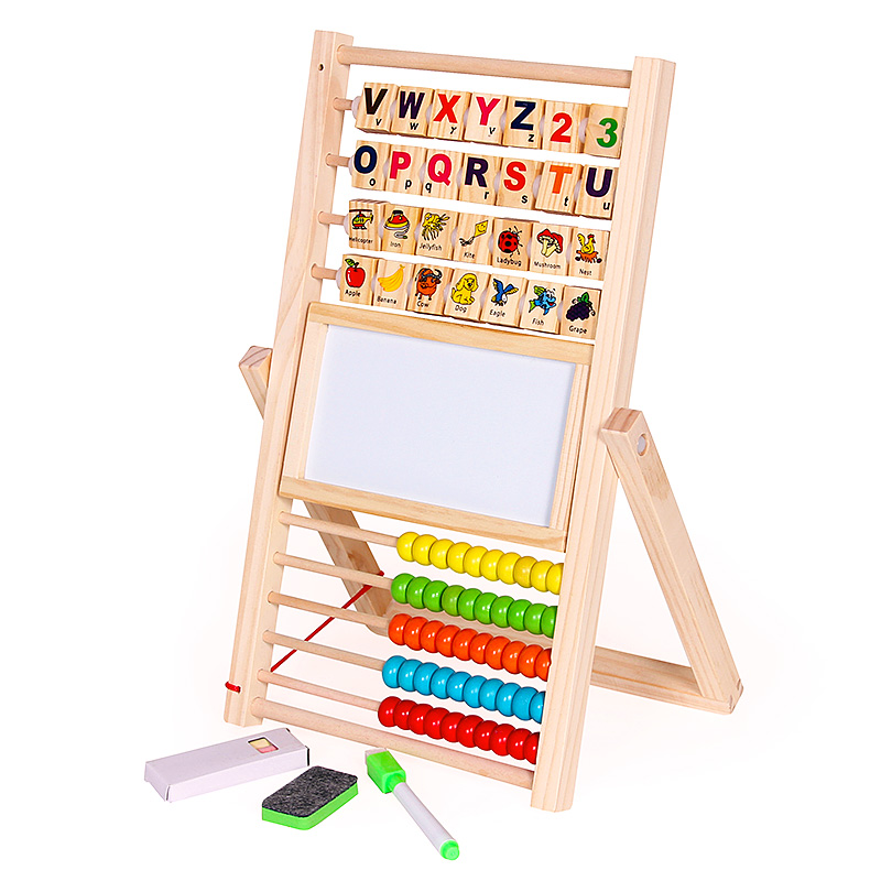 10X(Multifunction Abacus Learning Stand Holzen Montessori Spielzeugs Counting Cog 1N2)