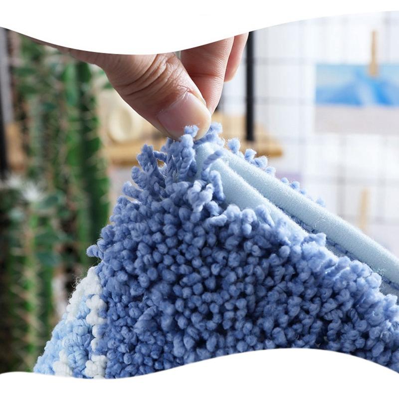 2X-Household-Comfort-Carpet-Flocking-Plaid-Bathroom-Anti-Slip-Mat-Kitchen-A3U1 thumbnail 11