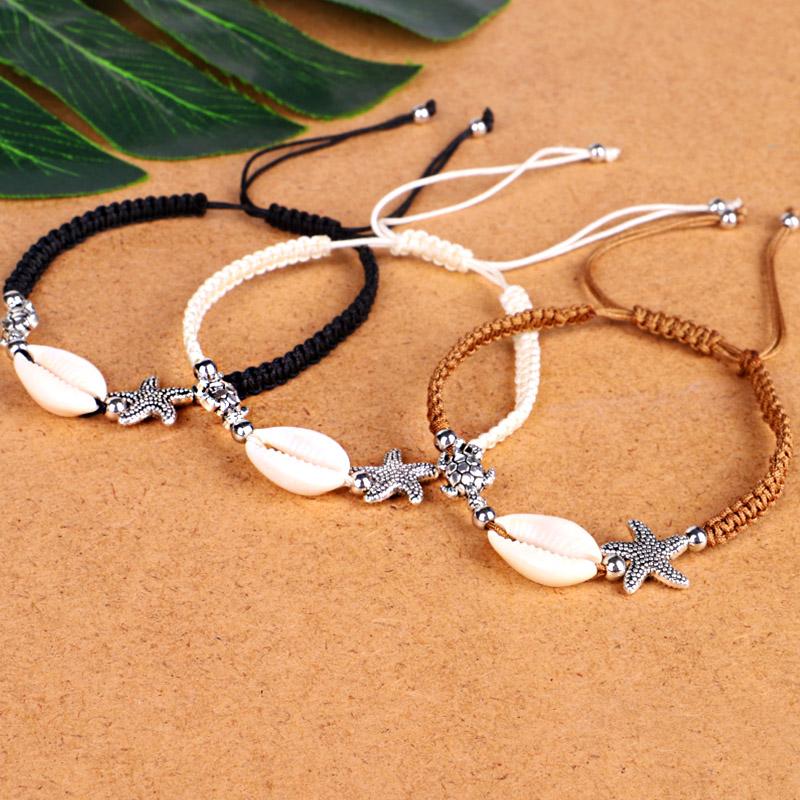 Bracelet-En-Perles-de-Coquillage-Naturel-Pour-Femme-Bracelet-de-Charme-Tort-G8B5 miniature 6