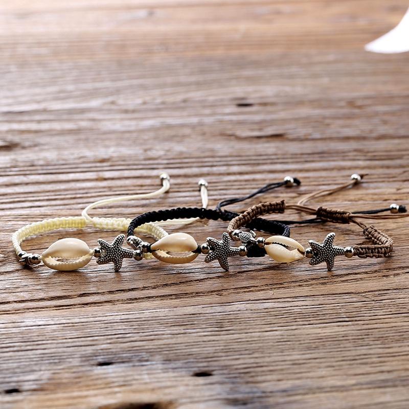 Bracelet-En-Perles-de-Coquillage-Naturel-Pour-Femme-Bracelet-de-Charme-Tort-G8B5 miniature 7