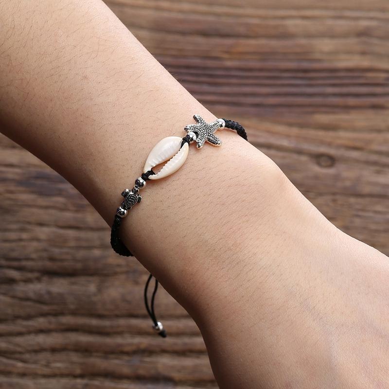 Bracelet-En-Perles-de-Coquillage-Naturel-Pour-Femme-Bracelet-de-Charme-Tort-G8B5 miniature 9