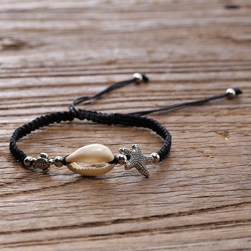 Bracelet-En-Perles-de-Coquillage-Naturel-Pour-Femme-Bracelet-de-Charme-Tort-G8B5 miniature 10