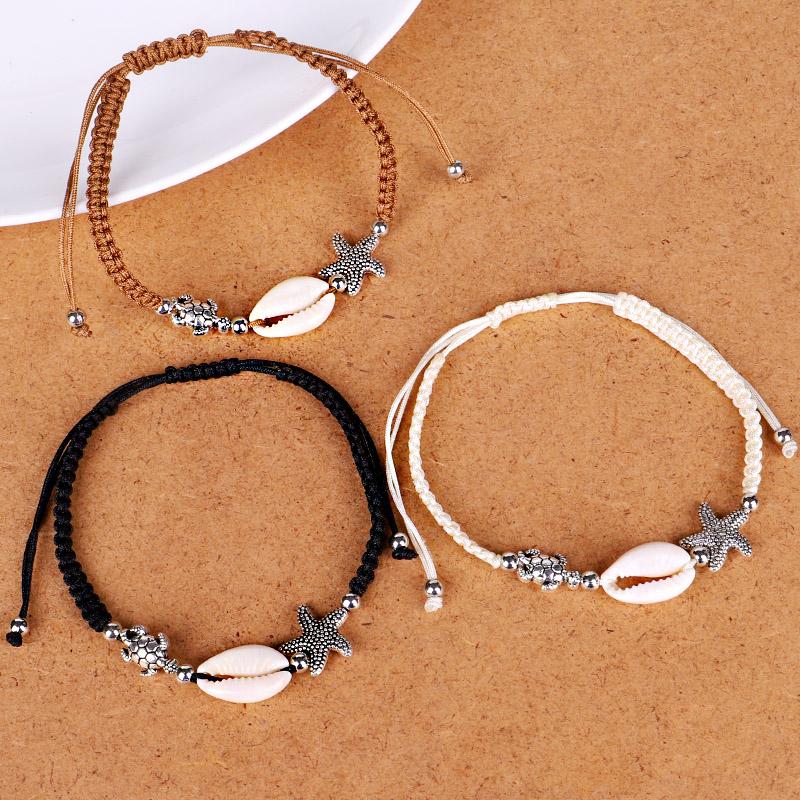 Bracelet-En-Perles-de-Coquillage-Naturel-Pour-Femme-Bracelet-de-Charme-Tort-G8B5 miniature 12