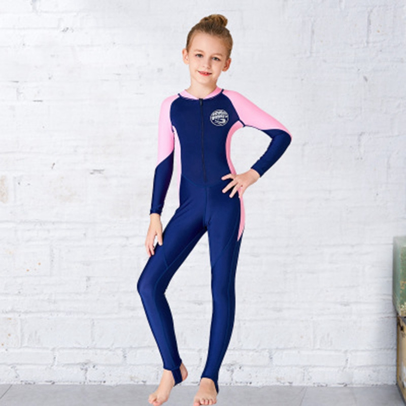 Scuba-Donkey-Girls-Wetsuit-Kids-Diving-Suit-One-Piece-Long-Sleeves-Uv-Prote-O9I6 thumbnail 3
