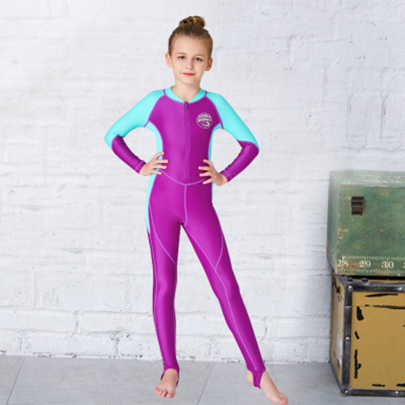 Scuba-Donkey-Girls-Wetsuit-Kids-Diving-Suit-One-Piece-Long-Sleeves-Uv-Prote-O9I6 thumbnail 4