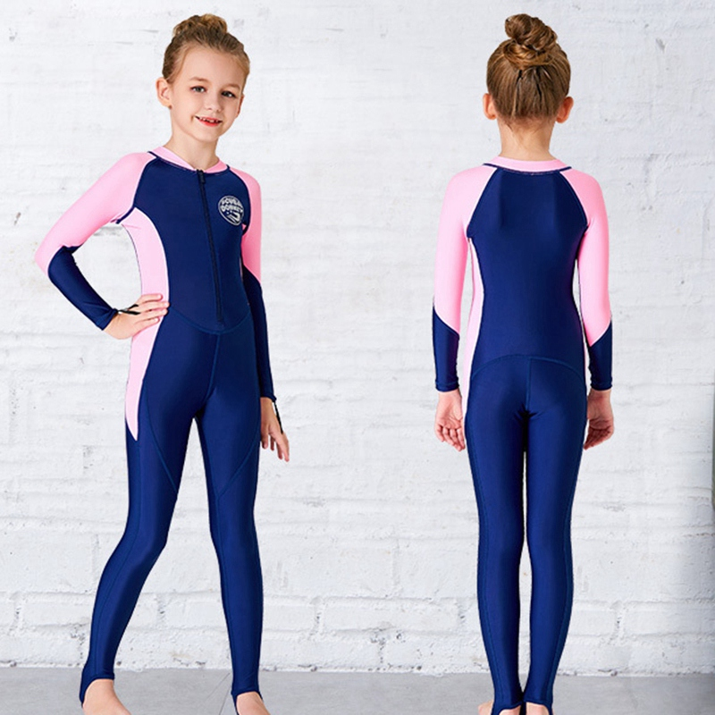 Scuba-Donkey-Girls-Wetsuit-Kids-Diving-Suit-One-Piece-Long-Sleeves-Uv-Prote-O9I6 thumbnail 7