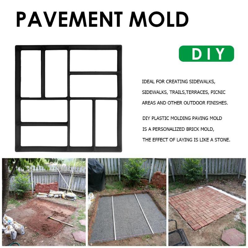 Details about 2X(Garden Diy Manual Mold Trail Road Paving Cement Concrete  Mold Manufactur S2M5