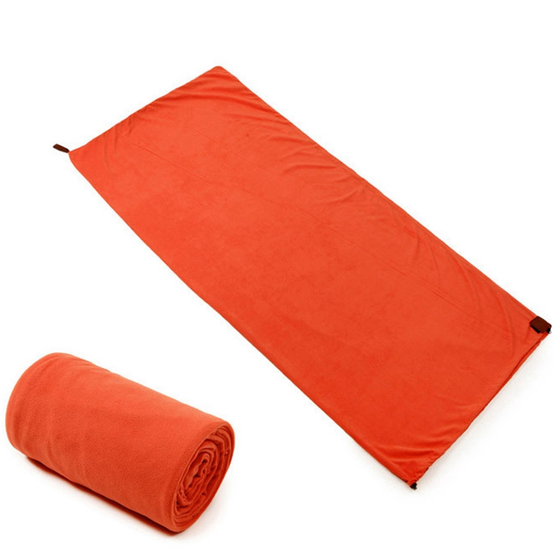 Sac-de-Couchage-En-Polaire-Simple-Face-Sac-de-Couchage-Pour-Camping-Exterie-T5K8 miniature 3