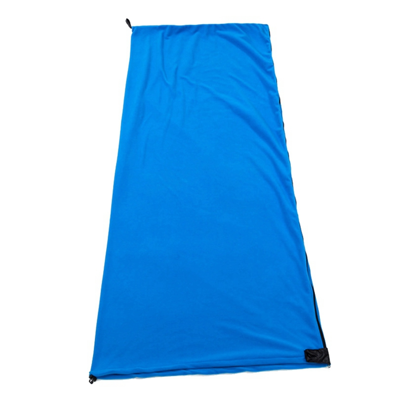 Sac-de-Couchage-En-Polaire-Simple-Face-Sac-de-Couchage-Pour-Camping-Exterie-T5K8 miniature 9