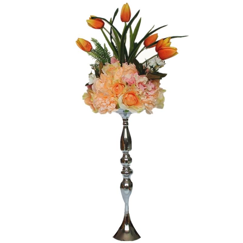 Metal-Bougeoirs-Vase-A-Fleurs-Support-De-Bougie-Baton-Table-De-Mariage-Piec-S2I4 miniature 9
