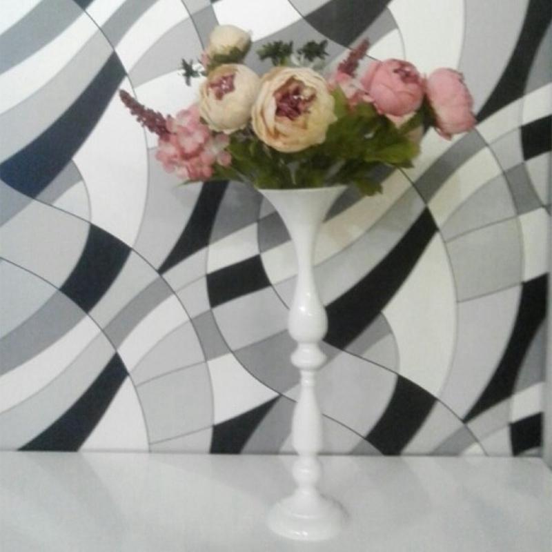 Porte-Bougies-En-Metal-Vase-A-Fleurs-Rack-Bougie-Baton-Table-De-Mariage-D3H8 miniature 13