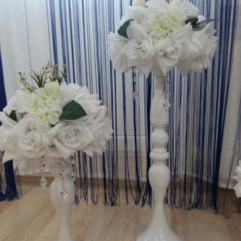 Porte-Bougies-En-Metal-Vase-A-Fleurs-Rack-Bougie-Baton-Table-De-Mariage-D3H8 miniature 14