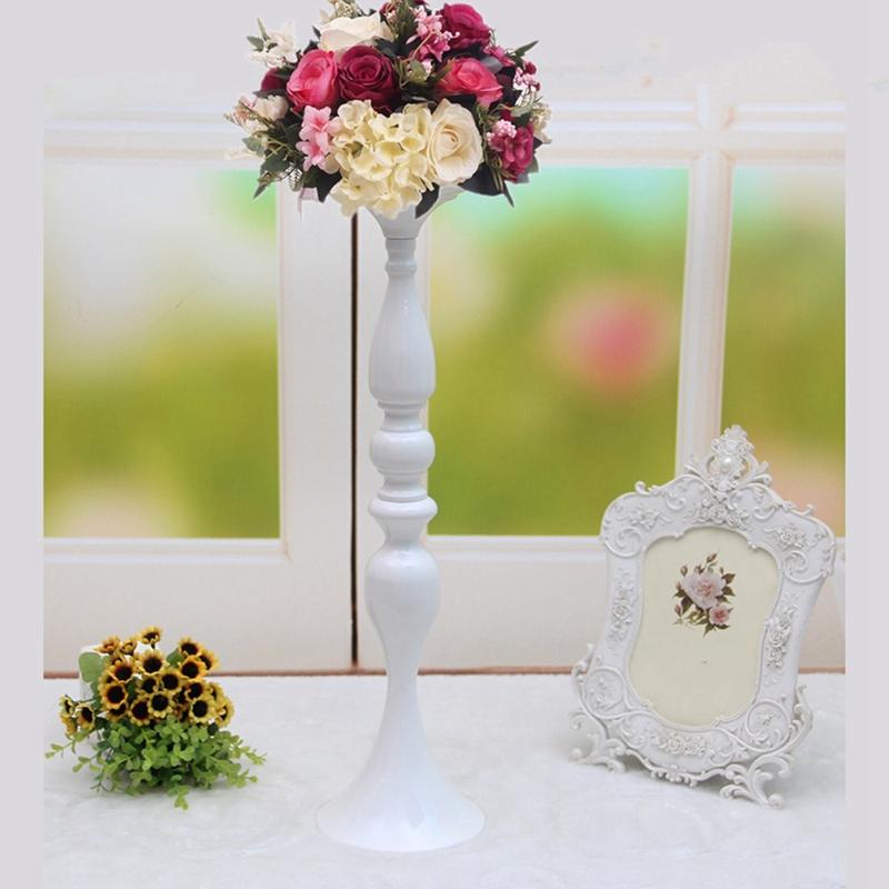 Porte-Bougies-En-Metal-Vase-A-Fleurs-Rack-Bougie-Baton-Table-De-Mariage-D3H8 miniature 16