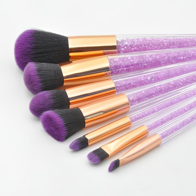 New-7Pcs-Diamond-Crystal-Makeup-Brushes-Professional-Set-Foundation-Blendin-R5I6 thumbnail 3