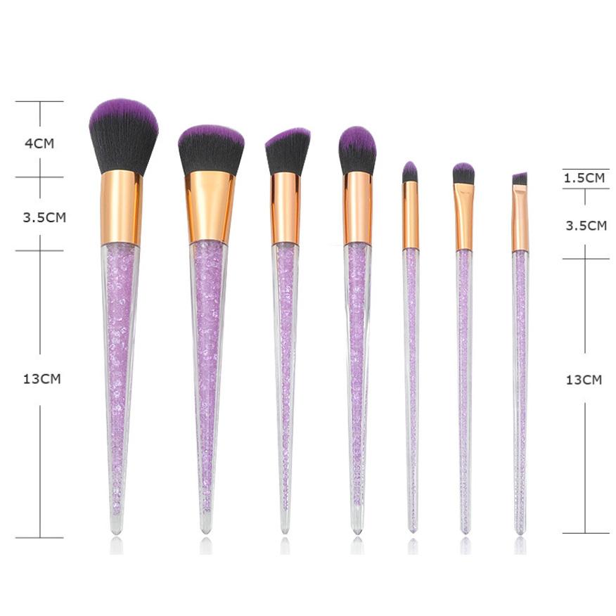 New-7Pcs-Diamond-Crystal-Makeup-Brushes-Professional-Set-Foundation-Blendin-R5I6 thumbnail 4