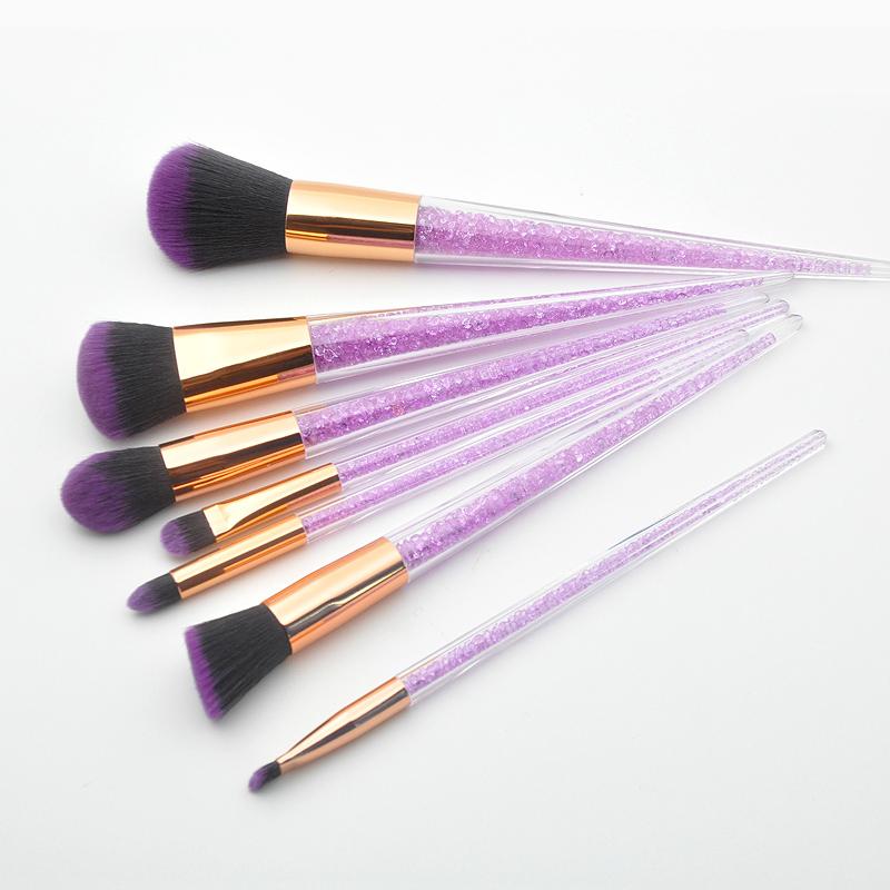 New-7Pcs-Diamond-Crystal-Makeup-Brushes-Professional-Set-Foundation-Blendin-R5I6 thumbnail 6
