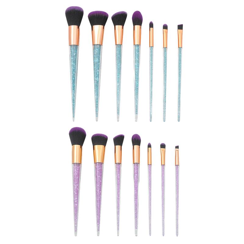 New-7Pcs-Diamond-Crystal-Makeup-Brushes-Professional-Set-Foundation-Blendin-R5I6 thumbnail 7