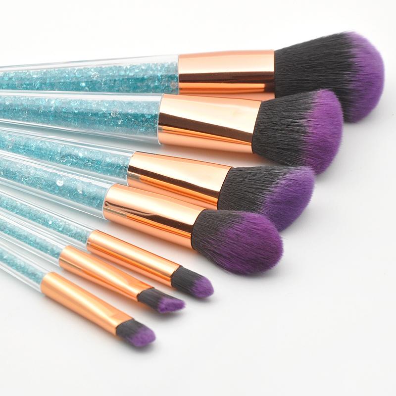New-7Pcs-Diamond-Crystal-Makeup-Brushes-Professional-Set-Foundation-Blendin-R5I6 thumbnail 9
