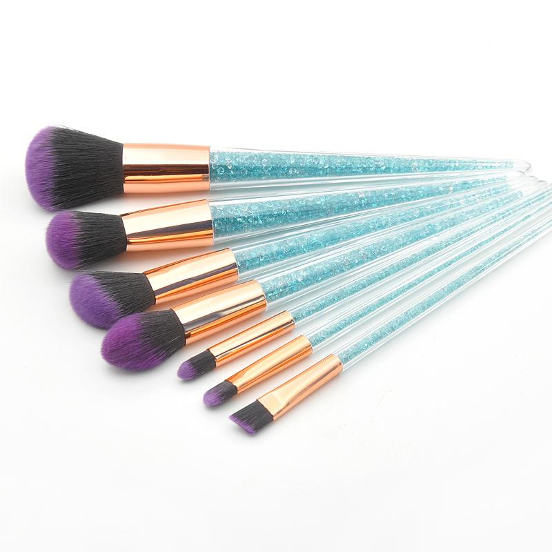 New-7Pcs-Diamond-Crystal-Makeup-Brushes-Professional-Set-Foundation-Blendin-R5I6 thumbnail 10