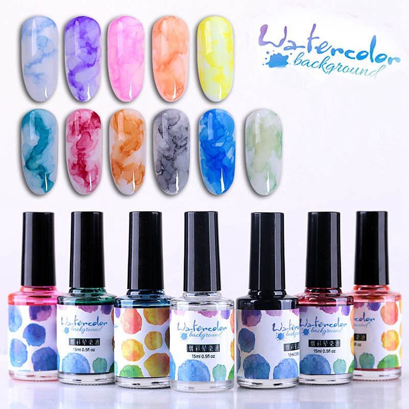 15Ml-Nail-Polish-Ink-Gel-Watercolor-Gradient-Pattern-Nail-Art-Manicure-Deco-W1F9 thumbnail 9