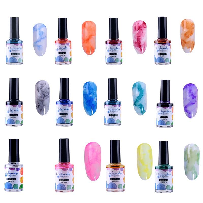 15Ml-Nail-Polish-Ink-Gel-Watercolor-Gradient-Pattern-Nail-Art-Manicure-Deco-W1F9 thumbnail 10