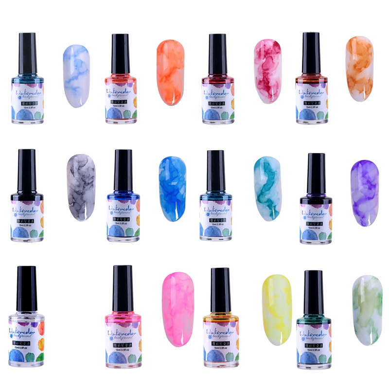 15Ml-Nail-Polish-Ink-Gel-Watercolor-Gradient-Pattern-Nail-Art-Manicure-Deco-W1F9 thumbnail 46