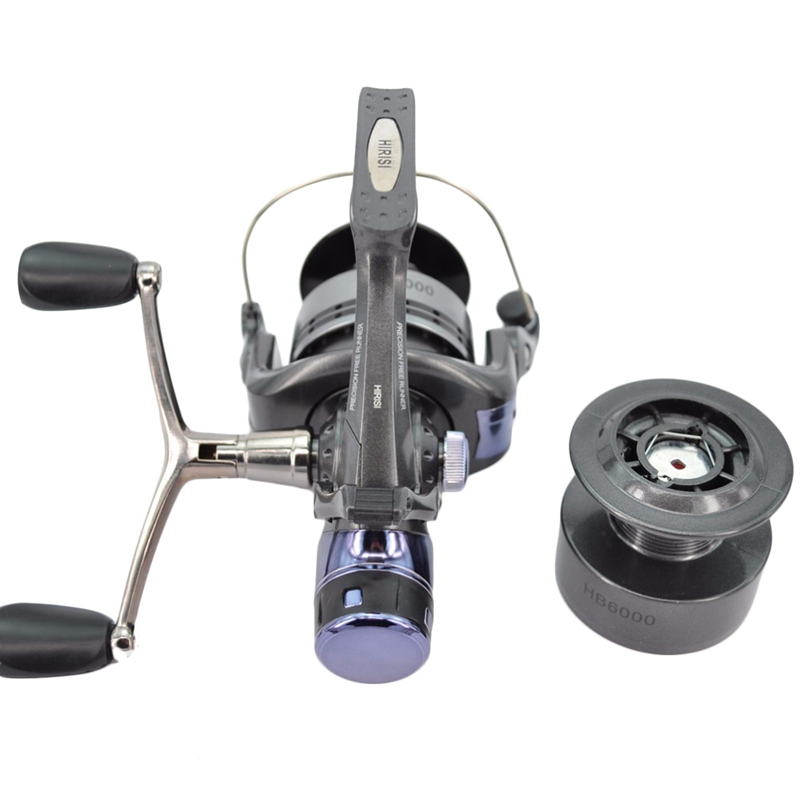 1X-Hirisi-Spinning-Fishing-Reel-For-Carp-Fishing-Free-Extra-Spool-X4A7 thumbnail 4