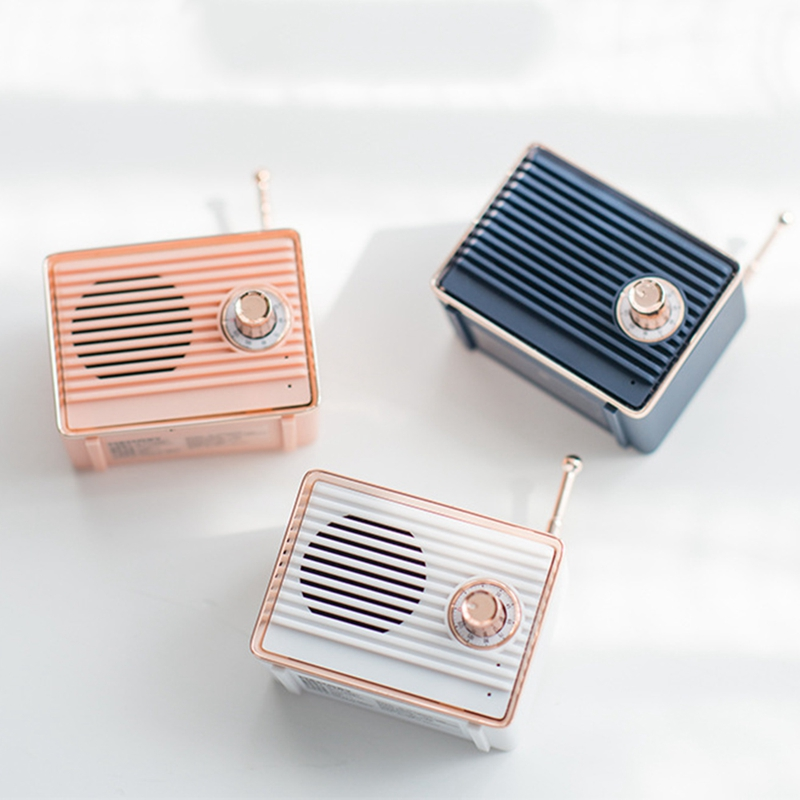 Retro-Bluetooth-Speaker-Vintage-Mini-Cute-Bluetooth-Speaker-Nostalgic-Heavy-Y4D1 thumbnail 6