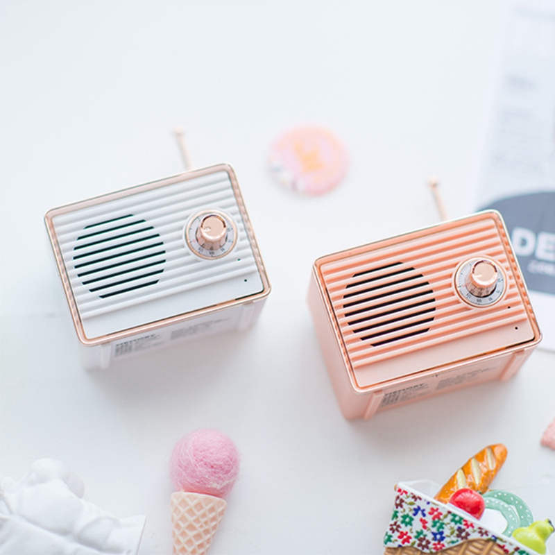 Retro-Bluetooth-Speaker-Vintage-Mini-Cute-Bluetooth-Speaker-Nostalgic-Heavy-Y4D1 thumbnail 7