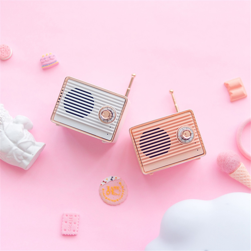 Retro-Bluetooth-Speaker-Vintage-Mini-Cute-Bluetooth-Speaker-Nostalgic-Heavy-Y4D1 thumbnail 8