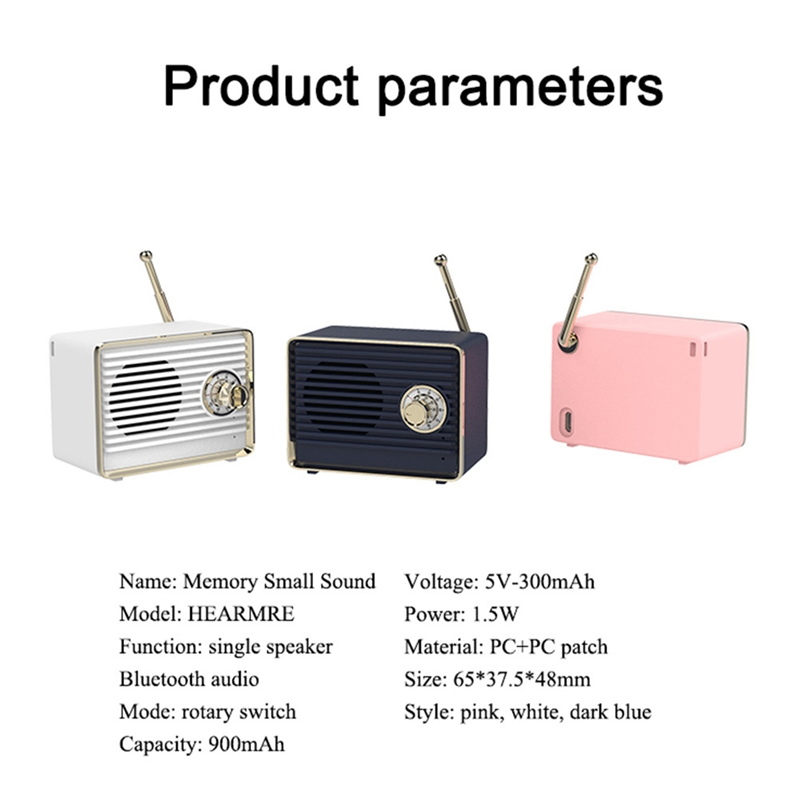 Retro-Bluetooth-Speaker-Vintage-Mini-Cute-Bluetooth-Speaker-Nostalgic-Heavy-Y4D1 thumbnail 9