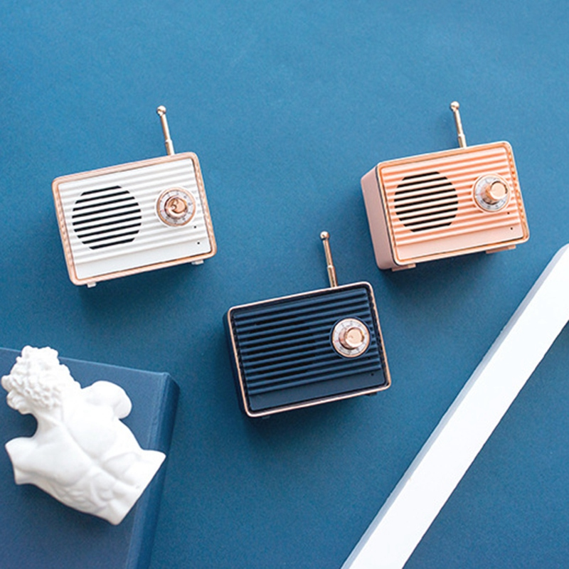 Retro-Bluetooth-Speaker-Vintage-Mini-Cute-Bluetooth-Speaker-Nostalgic-Heavy-Y4D1 thumbnail 15